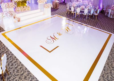 Custom Decal Vinyl Dance Floor Wrap in New Jersey NYC York Maryland Baltimore Washington DC Virginia from FM Event Productions