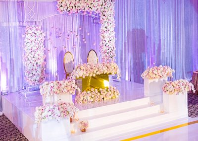 Custom Wedding Stage Design Cover Wrap for Event Riser or Platforms in New Jersey NYC York Maryland Baltimore Virginia Washington DC from FM Event Productions