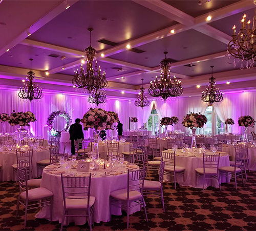 Lighting Production Company in New Jersey NYC York Maryland Baltimore Virginia Washington DC for Uplighting Pinspot Wedding Spotlight Ellipsoidal Stage Light from FM Event Productions