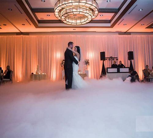 Low Fog Dancing on a Cloud Effect for Wedding First Dance in New Jersey NYC York Maryland Baltimore Virginia Washington DC from FM Event Productions