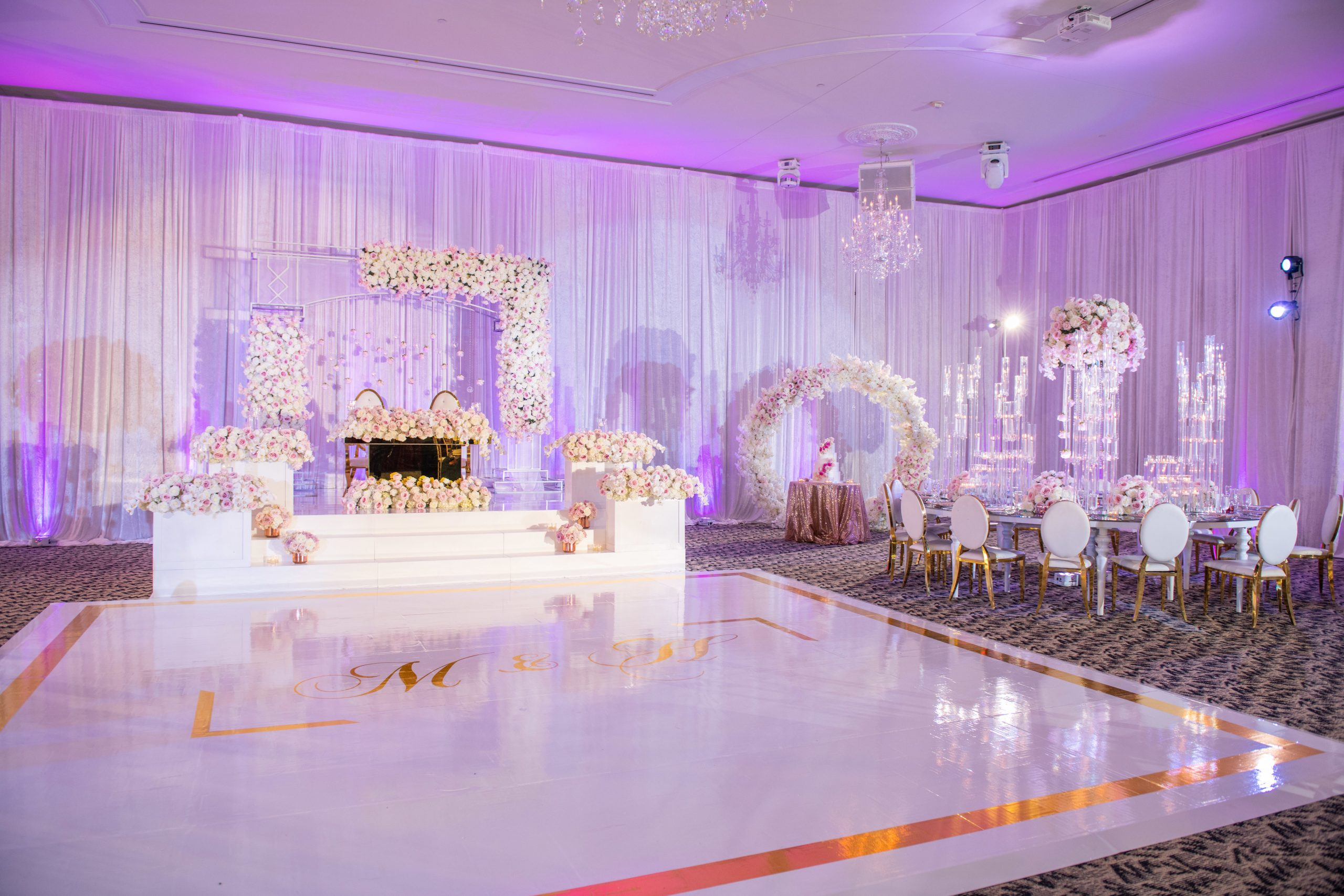 Custom Dance Floor Wraps in New York Jersey Delaware DC Maryland | Lighting and Event Production Company