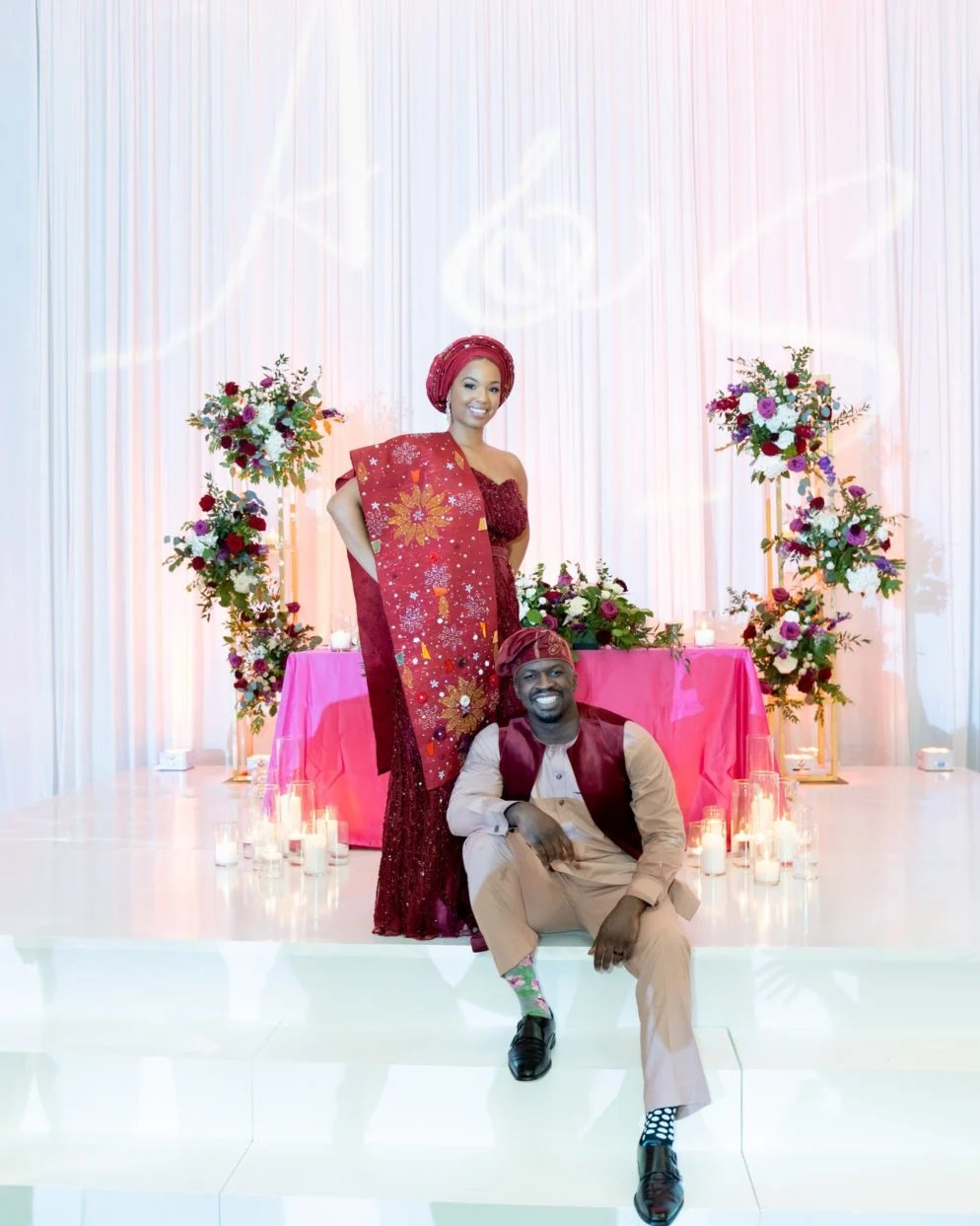 Ayana-Oluseun-A-Red-and-Gold-Wedding-at-the-Hotel-at-the-University-of-Maryland-Washingtonian-FM-Event-Productions-floor-Wraps